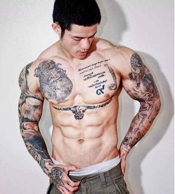 狼狗型筋肉健身教练兼模特